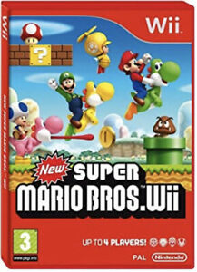 *New Super Mario Bros - 2009 Nintendo Wii Game 'Manuals Included'*