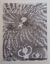 CELEBRITY SKIN/Haunted Garage Original Concert Flyer 1990 Glam Germs Garage PunK
