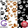 Paw Print Fusing Glass Decal Waterslide Ceramic Enamel-Black-White Metallic Gold