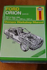 FORD ORION 1983-1990 Petrol 1296cc 1297cc 1392cc & 1597cc HAYNES MANUAL 1009