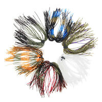 6/12/24 Bundles Bass Jig Skirts 50 Strands Fishing Jig Lures Tackle Replacement
