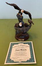 "Bradford Exchange Bald Eagle Sculpture "" Canyon Monarchs "" A0137"