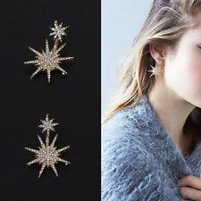 Women Elegant Crystal Rhinestone Ear Stud Daisy Star Earring Fashion Jewelry UK