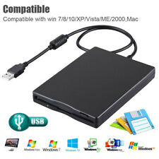 USBFDD Portable 35External Floppy Disk Drive Data Storage For Laptop PC