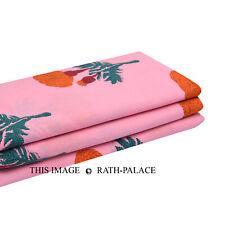 5 Yard Indian Cotton Hand Block Print Sanganeri Printed Fabric Craft Dressmaking