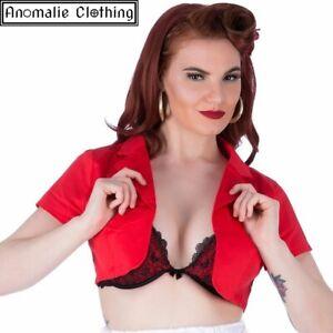 Short Sleeve Bolero in Red