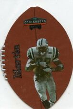 CURTIS MARTIN 1998 PLAYOFF CONTENDERS LEATHER #65 NEW YORK JETS