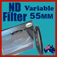 55mm Neutral Density ND filter adjustable variable ND2 to ND400 OZ stock