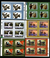 US Stamps # XF Junior Duck PB of 4 collection of 6 OG NH Scott Value $500.00