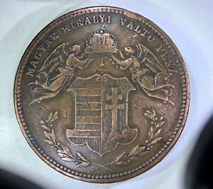 HUNGARY: 1868-KB 4 Krajczar ——————> NICE GRADE, GREAT DETAILS, ATTRACTIVE COPPER