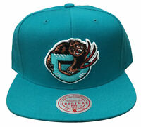 Mens Mitchell & Ness Teal NBA Vancouver Grizzlies Team Ground HWC Snapback Hat