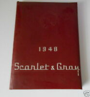 1948 YEARBOOK HOPEWELL LOUDON HIGH SCHOOL BASCOM OHIO OH SCARLET & GRAY