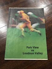 VINTAGE 1982 Virginia Loudoun Valley VS Park View HIGH SCHOOL FOOTBALL PROGRAM