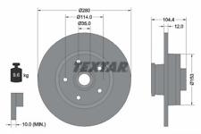 2x Bremsscheibe TEXTAR 92268903 hinten für FIAT NISSAN OPEL RENAULT