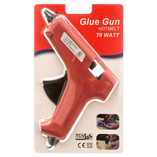 70W Red Hot Melt Glue Gun Sticks Trigger Art Craft Repair Tool W/ UL listed