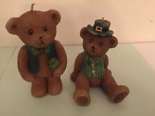 St.Patricks day Wax Candle Bears