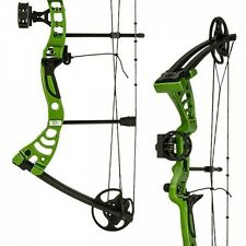 Green Monster Adult Archery Hunting Right Handed Compound Bow and Arrows