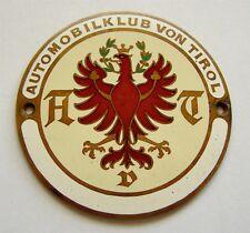 h518 Austria 1930's AUTOMOBIL CLUB TIROL car grille enamel original badge