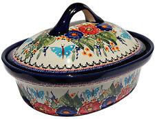Polish Pottery Oval Casserole Dish Large from Zaklady Boleslawiec 1158/149ar