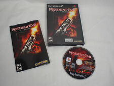 Resident Evil Outbreak Sony PlayStation PS2 Game Black Label