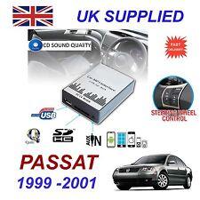 VW PASSAT 99-01 MP3 SD USB CD AUX Input Audio Adapter Digital CD Changer Module