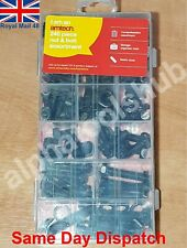 240PC Nut and Bolt Assortment Set Hex Head Fasteners IN Case M4 M5 M6 M8 M10