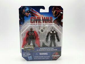 Marvel's Miniverse Falcon vs War Machine Figure Hasbro 2018 Captain America NIP