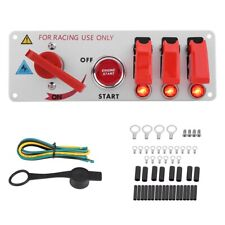12V Racing Car Ignition Switch Panel Engine Start LED Push Button Toggle Red New