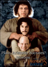 Princess Bride Photo Quality Magnet: Plato, Aristotle, Socrates? Morons