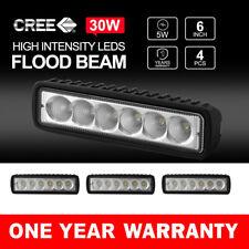"""4x 6"""" inch 30W LED Light Bar Flood Work Lights 12V24V Offroad 4WD UTE Truck"""