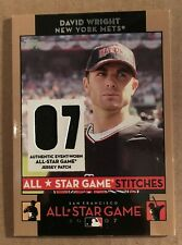 2007 Topps All Star Game Stiitches David Wright #ASDW Jersey Card Mets NM/M