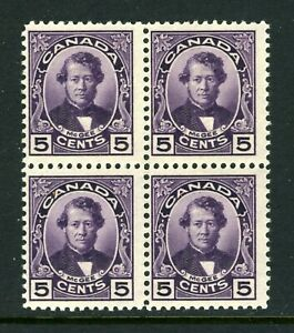 CANADA Scott 146 - LH/NH - 5¢ Violet Thomas D'Arcy McGee BLK of 4 (.008)