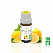 Huile Essentielle BIO Citron 10ml. Chémotypée, ABLabel, Ecocert Bio 100 % Pure.