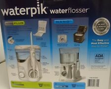 Waterpik Water Flosser Plus 12 Tips Ultra Plus and Nano - OPEN BOX - New