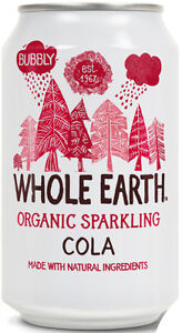 WHOLE EARTH | Organic Natural Ingredients Cola 330ml (24 Pack) | FREE DELIVERY