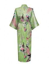 *bride Promotional Bride Long Women Kimono Robe satin silk Night dressing Gown