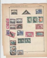 british possessions - south africa stamps page ref 17604