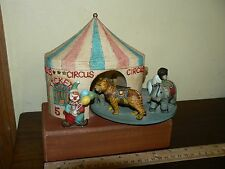 Vintage Carousel Merry Go Round Circus Animals Tickets 5 Cents Music Box