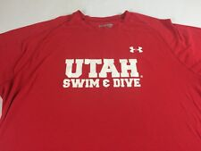 Utah Utes Shirt Mens XL Loose Heat Gear Under Armour Swim Dive Vince Lombardi