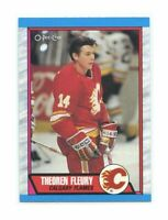 1989-90 O-Pee-Chee #232 Theoren Fleury Calgary Flames Rookie Card