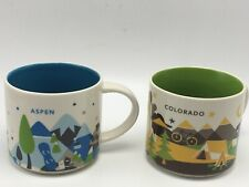 Starbucks You Are Here Lot 2 Aspen Colorado Coffee Mug Cup Lot New Without Box
