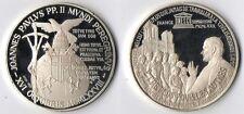 Medaglia Argento 925 Joannes Paulus PP. II UNESCO France 1980 Fondo Specchio