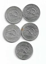 5 x 50 Pfennig 1922 A D F G J