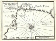 Antique map, Plan de la Rade de Mayorque