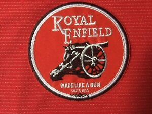 ROYAL ENFIELD MOTORCYCLE MADE LIKE A GUN BRITISH BIKER  BADGE IRON SEW ON PATCH