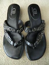Women's Black & Silver Flower Stud Shoes Size 7.5-New