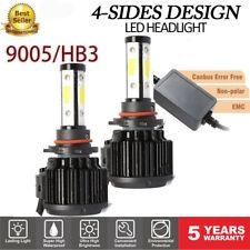 2x 9005 HB3 LED Hi/Lo Beam Light Error Free Headlight Kit Bulb 200W 6500K 4Sides