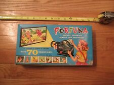 Fortuna Battery Operated Plastic Toy Projector 70 color slides Works