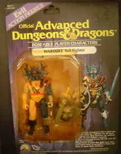 Vintage LJN Advanced Dungeons & Dragons WARDUKE AD&D MOC w/ card Evil Fighter