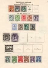 ZANZIBAR: 1904-1921 Examples - Ex-Old Time Collection - 2 Sides Page (33113)